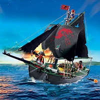 Playmobil Pirate Ship with RC Underwater Motor