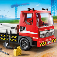 Playmobil Flatbed Construction Truck