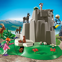 Playmobil Mountain Life - Rock Climbers with Mountain Animals