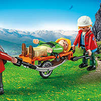Playmobil Mountain Life - Mountain Rescuers with Stretcher