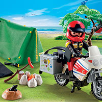 Playmobil Camping - Biker at Camp Site