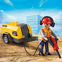 Playmobil Construction - Construction Worker with Jack Hammer