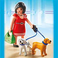 Playmobil Shopping Mall - Woman with Puppies
