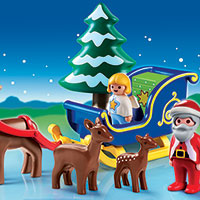 Playmobil 123 - Santa Claus with Reindeer Sleigh