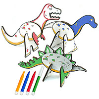 Topozoo Create & Color Dinosaurs