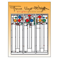 Frank Lloyd Wright Art Glass Translucent Coloring Book