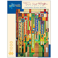 Frank Lloyd Wright Saguaro Glass Design - 1000 piece puzzle
