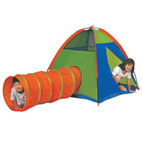 Hide Me Tent & Tunnel - Green & Orange