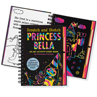 Scratch & Sketch Trace-Along - Princess Bella