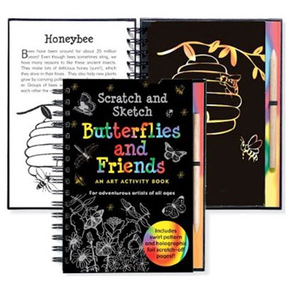 Scratch & Sketch Activity Book - Butterflies and Friends