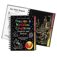 Scratch & Sketch Activity Book - Dragons & Mythical Creatures