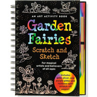 Scratch & Sketch Activity Book - Garden Fairies