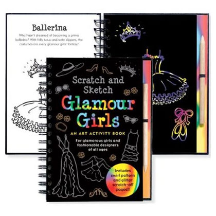 Scratch & Sketch Activity Book - Glamour Girls