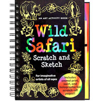 Scratch & Sketch Activity Book - Wild Safari
