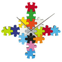 Do It Yourself Puzzle Wall Clock