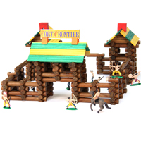 Frontier Logs - 300 Pieces with 20 Pc Action Figures