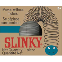 Silver Retro Slinky in Blue Box