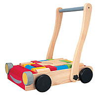 Baby Walker with Wood Blocks