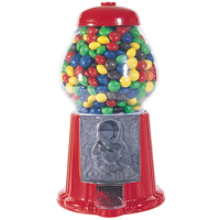 Gumball Machine - 11 inch Metal & Glass