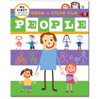 My First Activity Books: Draw + Learn - People