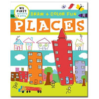 My First Activity Books: Draw + Learn - Places