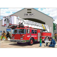 Fire Engine Super Sized Floor Puzzle