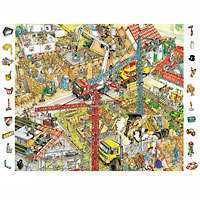 Building Site Look & Find Puzzle - 84 pc
