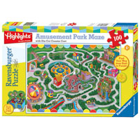 Highlights Amusement Park Maze Puzzle - 100 pc
