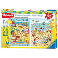 Highlights At the Beach Double Sided Puzzle - 100 pc