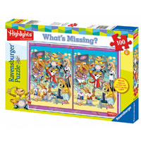 Highlights Animal Band - Whats Missing 100 pc Puzzle