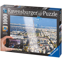 Above the Roofs of Paris Augmented Reality Puzzle - 1000 pc
