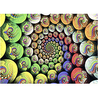 Krypt Colorful Spiral Puzzle - 654 pc