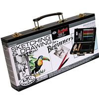 Drawing Beginner Sketch & Draw Wood Box Set