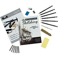Sketching Art Instructor - 25 piece Art Set