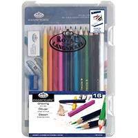 Drawing - 16 piece Art Set