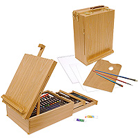 All Media Art Set + Easel - 104 pieces