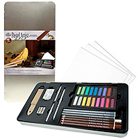 Pastel Artist Tin - 33 piece Art Set