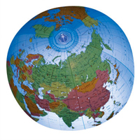 Inflatable Political Globe - 12 inch