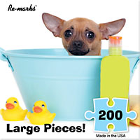 Puppy in Bath 200 Large Piece Puzzle