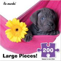 Puppy in Hammock 200 Large Piece Puzzle