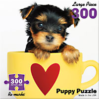 Puppy in a Teacup 300 Large Piece Puzzle