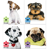Puppy 4-Pack Puzzles - 60 pc