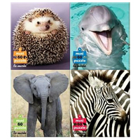 Wild Animal 4-Pack Puzzles - 80 pc