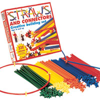 Roylco Straws and Connectors - 230 pc