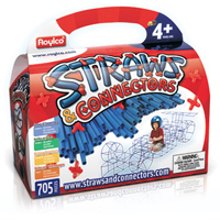 Straws & Connectors Creative Building Set - 705 pc