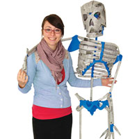 Newspaper Skeleton