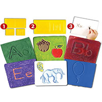 Alphabet Match & Rub Set