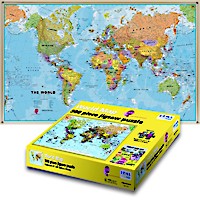 500 Piece World Jigsaw Puzzle