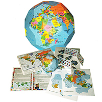 DIY Paper Globe Sculpture