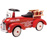 Metal Speedster Fire Truck